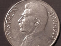 Moneda argint 100 Coroane Cehoslovacia 1949 Stalin