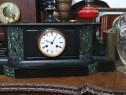 Ceas mare antik de semineu sau birou marmură neagră