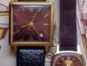 2 ceasuri SLAVA pereche, damă și bărbătesc, placate cu aur