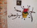 """Suport """"ramura"""" pentru flori de perete"""