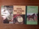 Lot 3 carti despre cresterea, ingrijirea cailor, potcovit
