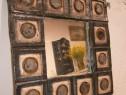 Oglinda veche cu rama ceramica semnata MK 70