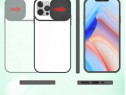 Iphone 12 MINI PRO MAX - Husa Margine Silicon Spate Plastic