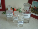 Lot 4 Sticle din Cristal pentru Farmacie - Vintage