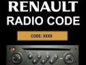 Cod deblocare radio Renault Megane Scenic Laguna Clio Twingo