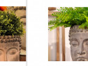 Cadou inedit Buddha Head Planter-alb+negru,Olanda