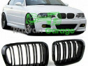 Set grile BMW seria 3 E46 coupe capota grila negru lucios