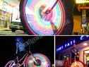 LED-uri multicolore montare la roata pe ventil bicicleta 074