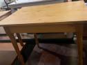 Masa solida de bucatarie din lemn masiv; Masuta cu blat 90x6
