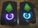Boxe Gaming 2.0, RMS 6W (2 x 3 W), 4 x LED, Nou !