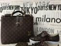 Set Louis Vuitton 3 articole/geanta+portofel+adidasi/saculet