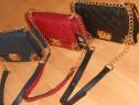 Genti Chanel,colturi aurii,)albastru,negru,rosu)-France