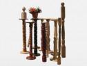 Balustri din lemn, suporturi de flori