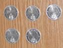 Lot 5 monede 1000 lei 2001