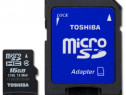 Card memorie toshiba microsd 16gb + adaptor sd produs nou