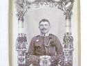 4838-CDV Foto vechi Militar Budapest cu loc de personalizare