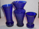 3 vaze vintage albastre