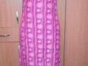 Promotie! Rochie roz lunga cu model si crapatura M, UK