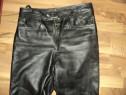 Pantaloni piele naturala moale pentru moto-rock-chopper-stra