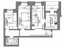 Apartament 3 camere in bloc nou, Miroslava, 69 mp