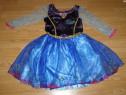 Costum carnaval serbare anna pentru copii de 4-5-6 ani