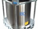 IBC superpozabil din inox - 1000l
