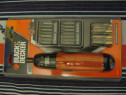 Black & decker, uk, surubelnita electrica 6v, cu 14 bituri,