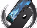 Husa 360 Neagra Fata Spate Si Folie Sticla - Iphone X 10