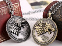 Medalion Pandantiv Lantisor Game of Thrones Stark House