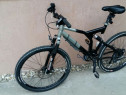 Bicicleta full suspension, disc, Shimano Deore XT, Rock Shox