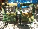 Scaune de gradina din lemn masiv, pliabile / 2 bucati