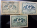 3 Bancnote 100 lei puse in circulatie in anul 1945