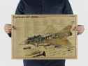 Poster vintage avion Typhoon EF-2000 EuroFighter hartie kraf