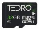 Card de memorie TEDRO microSD 32GB, UHS-1, Clasa 10