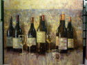 Tablou pictat manual pe panza in ulei Sticla cu Vin A-063
