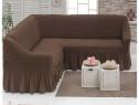 Husa pentru canapea tip Coltar culoare Maro