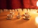 Serviciu de ceai din portelan vintage pentru papusi