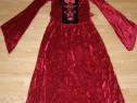 Costum carnaval serbare scufita rosie cadana gotica adulti S
