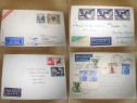 A539-Filatelie-Lot de 16 scrisori Posta Aeriana cu francatur