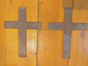 2 Cruci metal vechi 60 ani-colectie