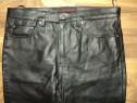 Pantaloni piele naturala de calitate ,model clasic,talie 92