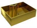 Chiuvetă cu orificiu de robinet, auriu, 143486
