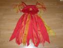 Costum carnaval serbare vrajitoare diavolita 8-9-10 ani