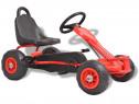 Mașinuță kart cu pedale și roți pneumatice, 80197