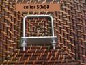 Colier 50x50 brida clema sistem fixare gard panou bordurat