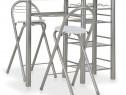 Set mobilier de bar, cu rafturi, 3 piese, alb, 284399