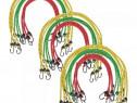 Corzi elastice 30 buc, 60/80/100 cm, roșu 142665