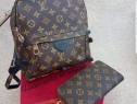 Set Louis Vuitton (rucsac si portofel),saculet inclus