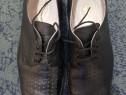 Pantofi de vară, perforați, negri pentru cadre militare