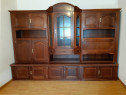 Biblioteca lemn masiv stejar rustic